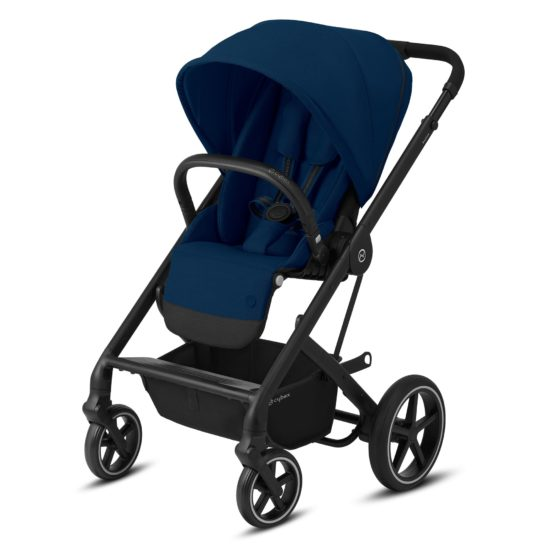 """Cybex Καρότσι Balios S LUX black frame Navy Blue """"Gold Edition"""""""
