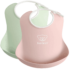 Baby Bib 2pkt Powder Green Pink