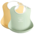 Baby Bib 2pkt Powder Yellow Green