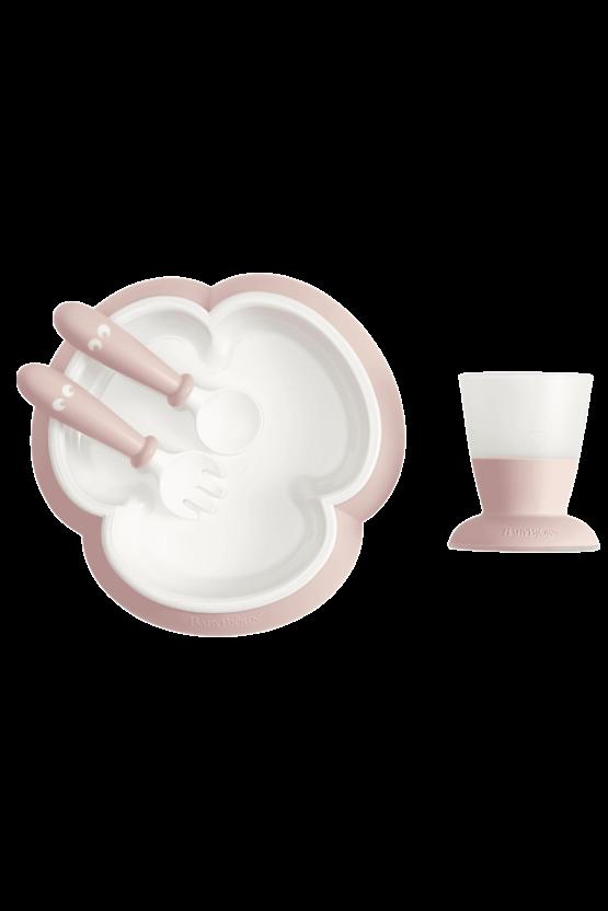 BabyBjörn βρεφικό σετ φαγητού Powder Pink