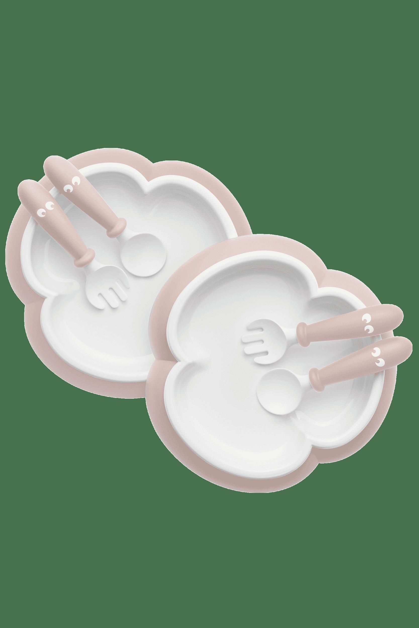 BabyBjörn σετ κουταλοπίρουνα & πιάτο Powder Pink