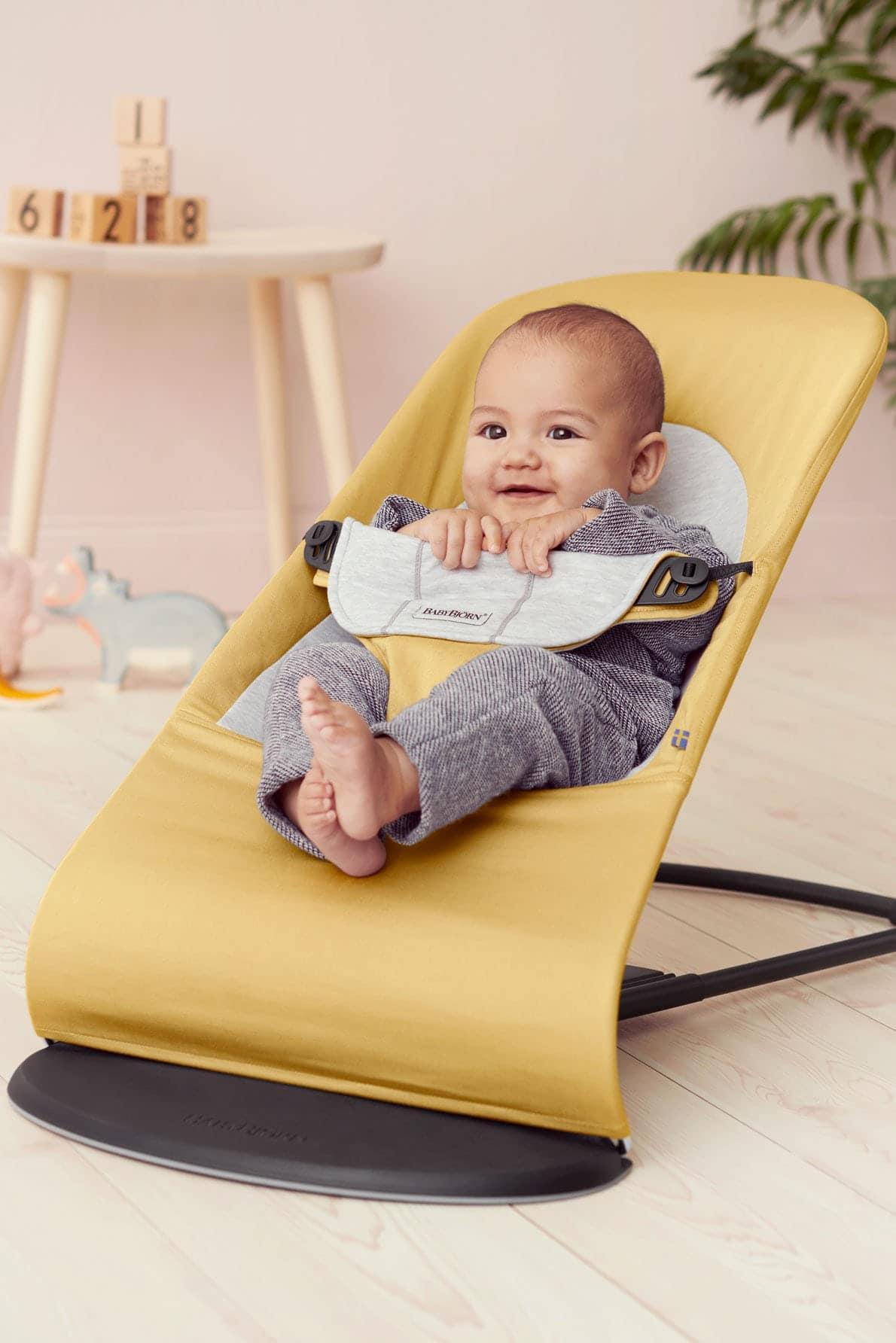 Babybjorn Bouncer Balance Soft Yellow Grey 005061 Cotton Jersey 001