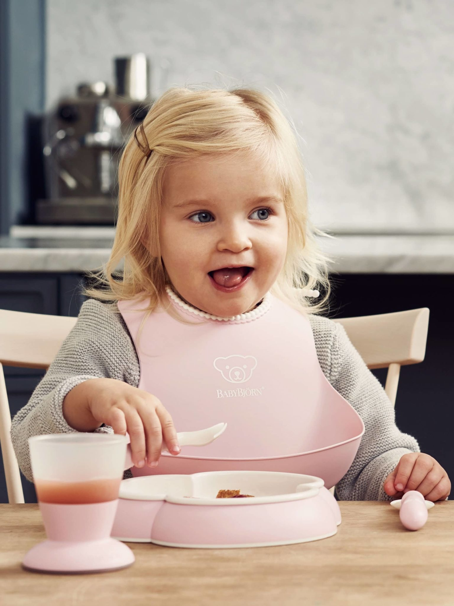 Babybjorn Dinner Set Powder Pink 001