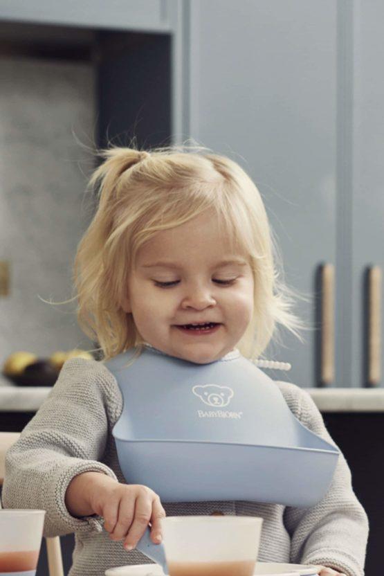 Babybjorn Feeding Bib Set Powder Blue 004