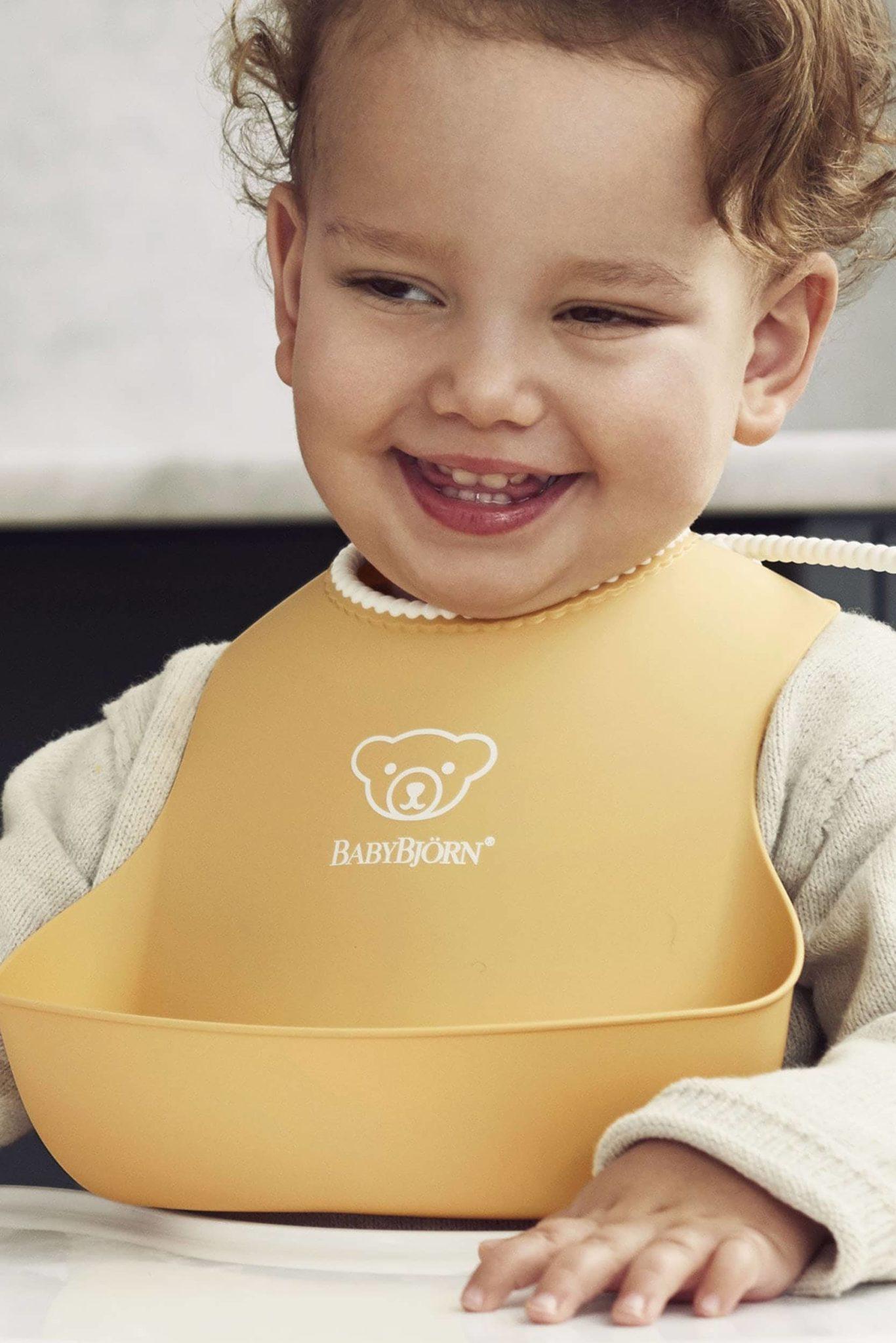 Babybjorn Feeding Bib Set Powder Yellow 004