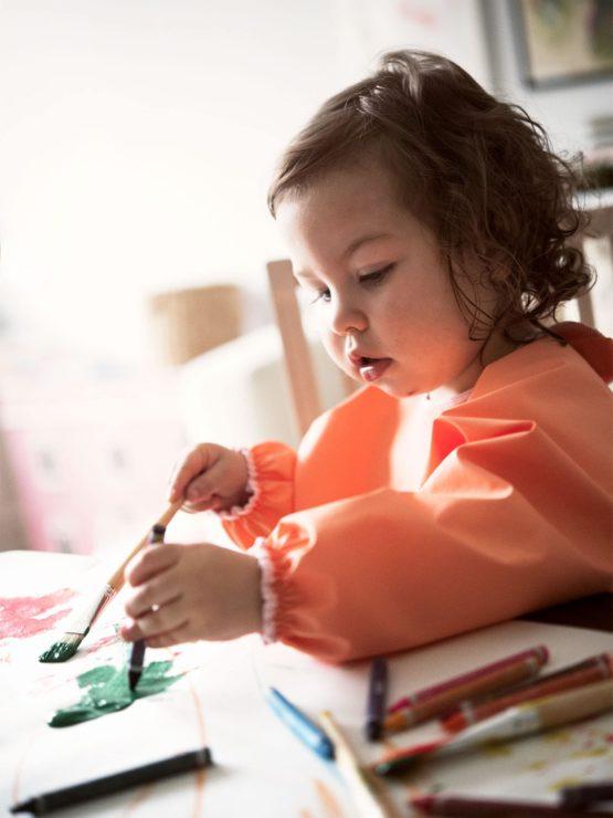 Babybjorn Long Sleeve Bib Orange 002