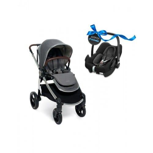 Mamas & Papas Καρότσι Ocarro Grey Mist Με Δώρο Κάθισμα Αυτοκινήτου Maxi Cosi Rock Nomad Black