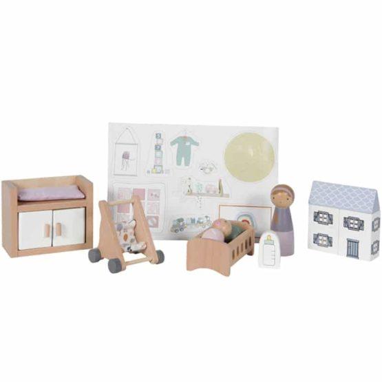 LITTLE DUTCH. Σετ βρεφικού δωματίου για ξύλινο κουκλόσπιτο