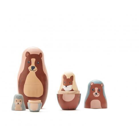 KIDS CONCEPT. Σετ ξύλινα ζωάκια Edvin (φυσικό-πολύχρωμο)