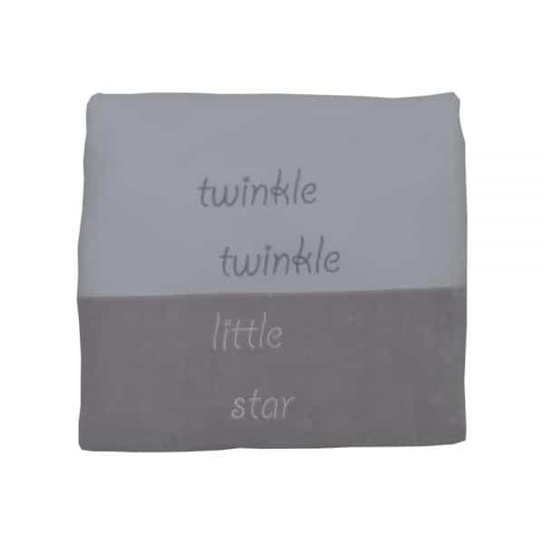 Bebe Stars Κουβέρτα Βελουτέ Γκρι-Λευκό Stars 90×110