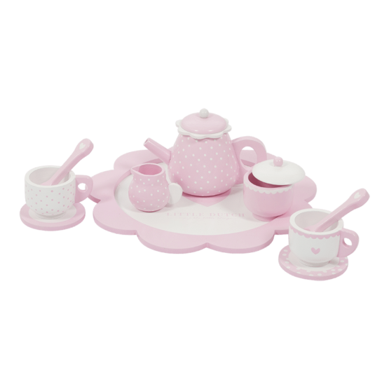 4365 Wooden Tea Set Pink 2