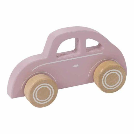 LITTLE DUTCH. Ξύλινο αυτοκινητάκι (ροζ)