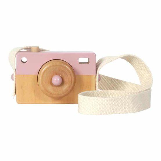 LITTLE DUTCH. Ξύλινη φωτογραφική μηχανή (ροζ)