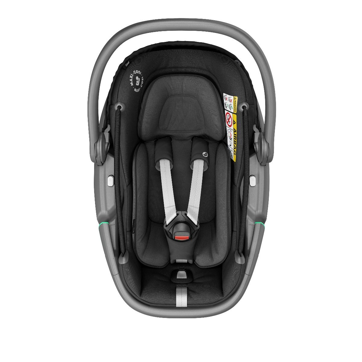 8557672110 2020 Maxicosi Carseat Babycarseat Coral Black Essentialblack Easyinharness Front