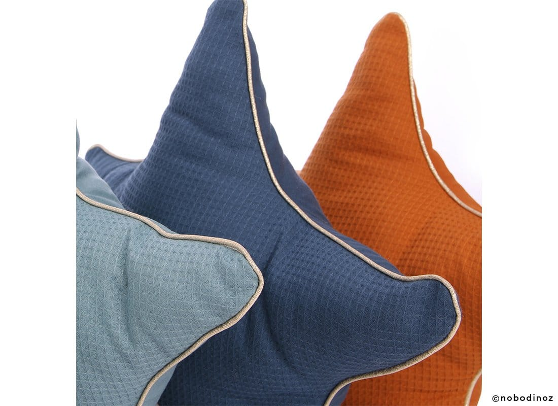 Aristote Star Cushion Coussin Etoile Cojin Estrella Combinaison Sunset Night Blue Magic Green Nobodinoz 2