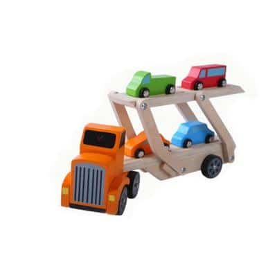 GERARDO'S. Ξύλινο συρόμενο φορτηγό με αυτοκινητάκια