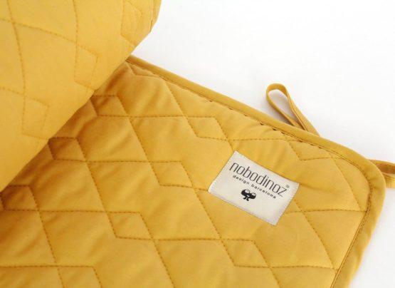 Cot Bumper Alexandria Farniente Yellow Nobodinoz 2