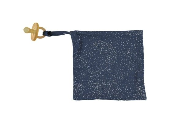 Dodo Pacifier Holder Doudou Attache Tetine Portachupete Gold Bubble Night Blue Nobodinoz 2