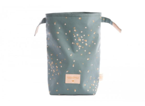 Eco Lunch Bag Too Cool For School Gold Confeti Magic Green Nobodinoz 1