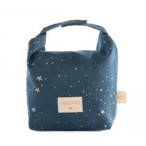 Eco Lunch Bag Too Cool For School Gold Stella Night Blue Nobodinoz 10 2 1024x