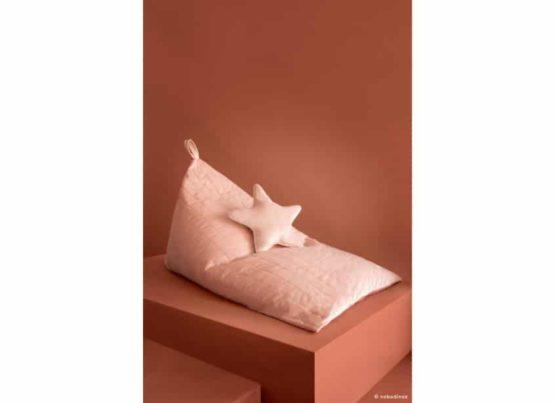 Essaouira Beanbag Pouf Puf Aristote Star Velvet Cushion Coussin Cojin Savanna Bloom Pink Nobodinoz 1