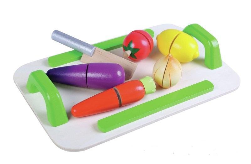 GERARDO'S. Ξύλινος δίσκος λαχανικών με μαχαίρι κοπής