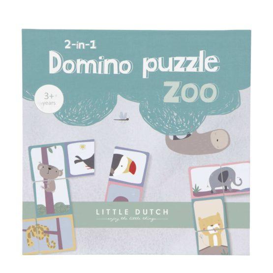 Little Dutch Domino Puzzel Dierentuin Kinderspel 8713291444492