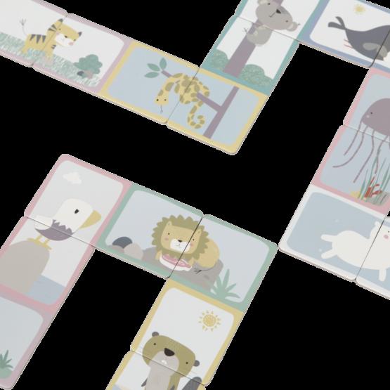 Little Dutch 4449 Domino Puzzle Zoo LD4449 2 2048x