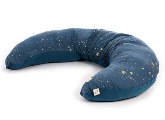 Luna Maternity Pillow Coussin De Maternite Cojin De Maternidad Gold Stella Night Blue Nobodinoz 1