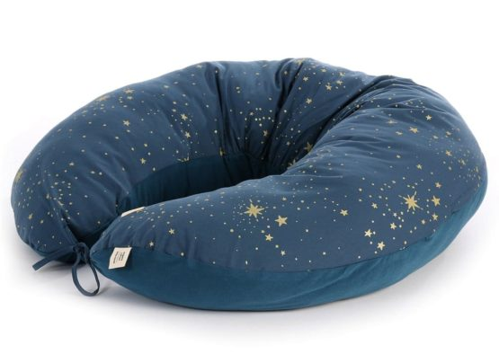 Nobodinoz. NEW ELEMENTS. Μαξιλάρι θηλασμού Luna Gold stella/ Night blue