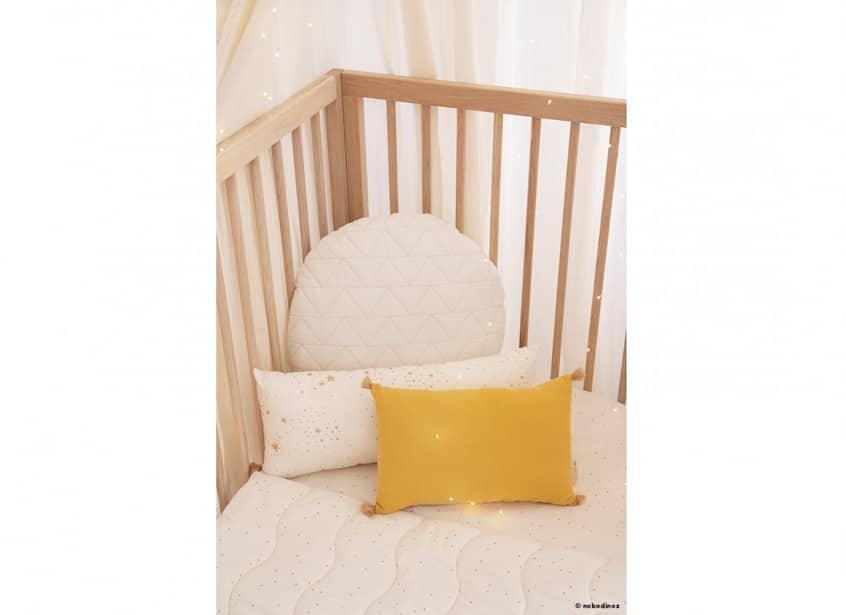 Mood Cuna Crib Cushions Sublim Coussin Cojin Honey Sweet Dots Natural Nobodinoz