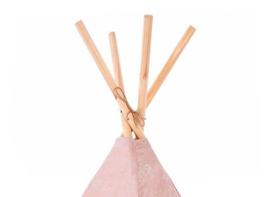 Phoenix Teepee Tipi White Bubble Misty Pink Nobodinoz 3