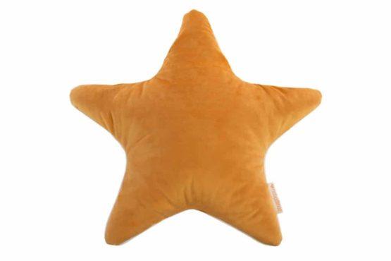 Nobodinoz. VELVET. Μαξιλάρι αστέρι Aristote 40*40cm Farniente Yellow