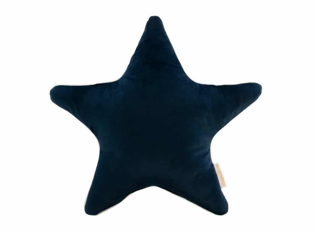 Nobodinoz. VELVET. Μαξιλάρι αστέρι Aristote 40*40cm Night Blue