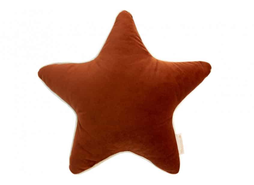 Nobodinoz. VELVET. Μαξιλάρι αστέρι Aristote 40*40cm Wild Brown