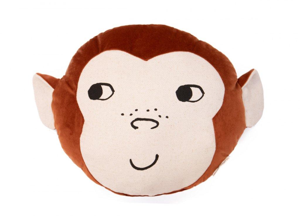Nobodinoz. VELVET. Μαξιλάρι Μαϊμουδάκι Wild Brown 32Χ35Χ10