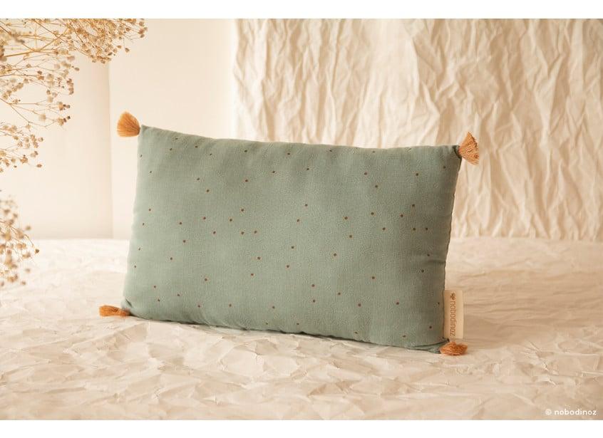 Sublim Cushion Toffee Dots Eden Green Nobodinoz 1