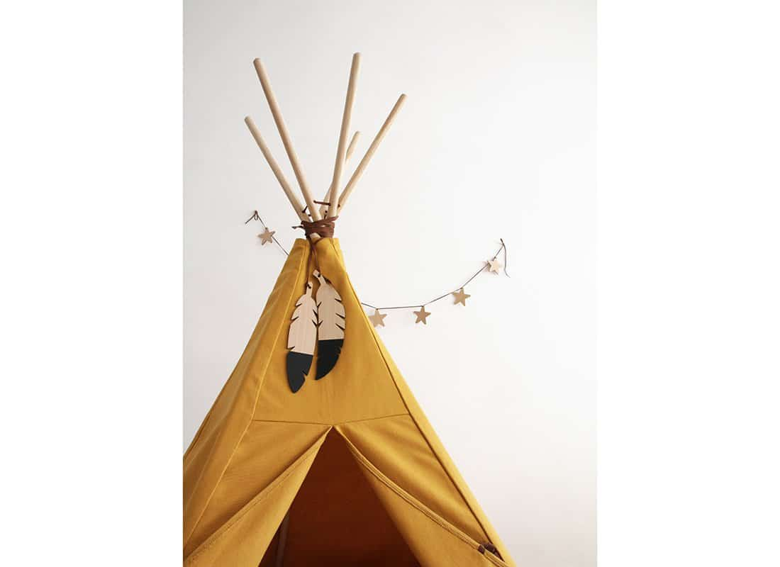 Teepee Nevada Farniente Yellow Detail Star Garland Nobodinoz