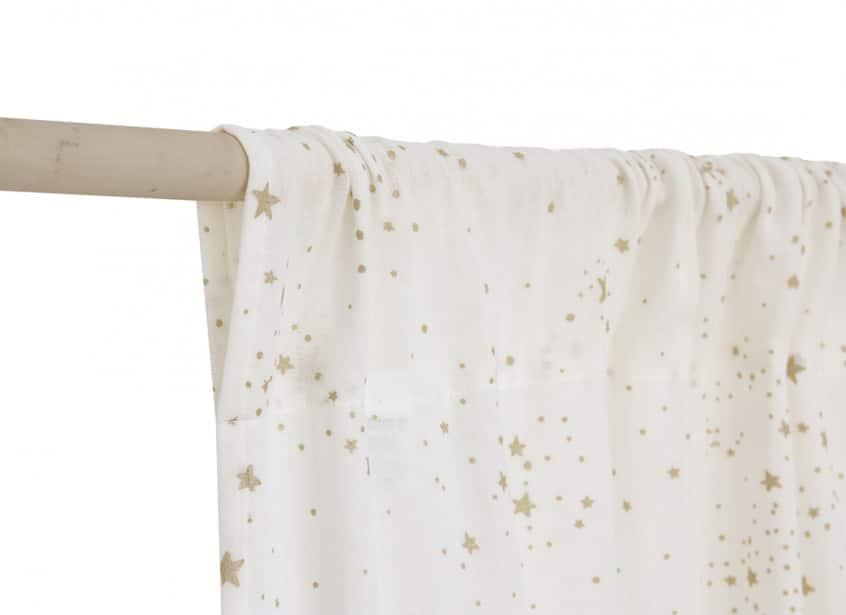 Utopia Curtain Rideau Cortina Gold Stella White Nobodinoz 3