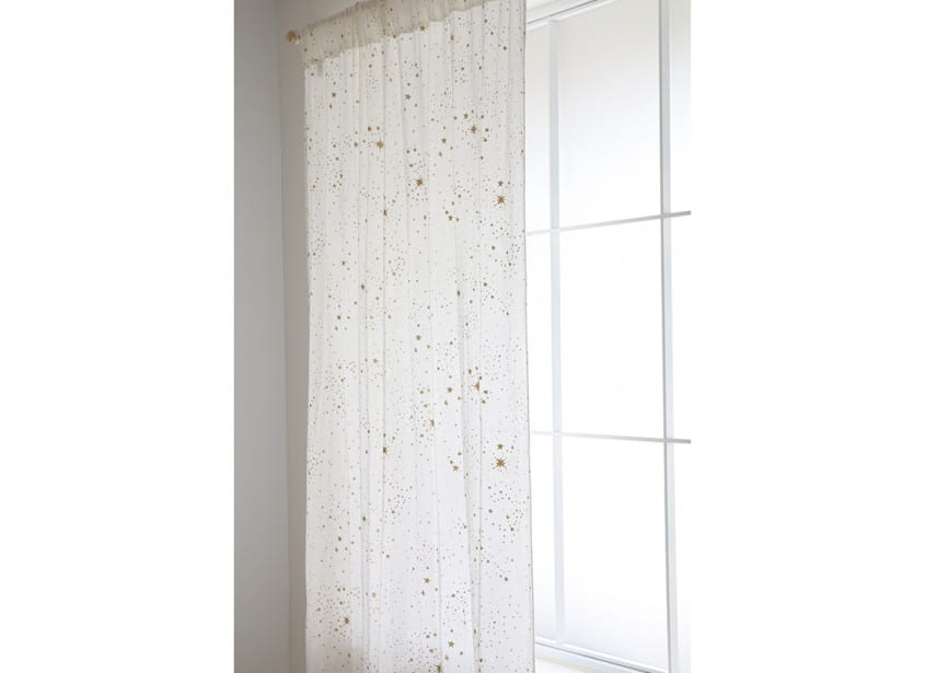 Utopia Curtain Rideau Cortina Gold Stella White Nobodinoz 4