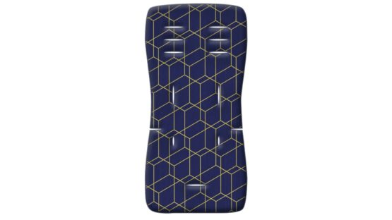 Grecostrom Στρωματάκι Καροτσιού Memory Foam Honey Comb Blue