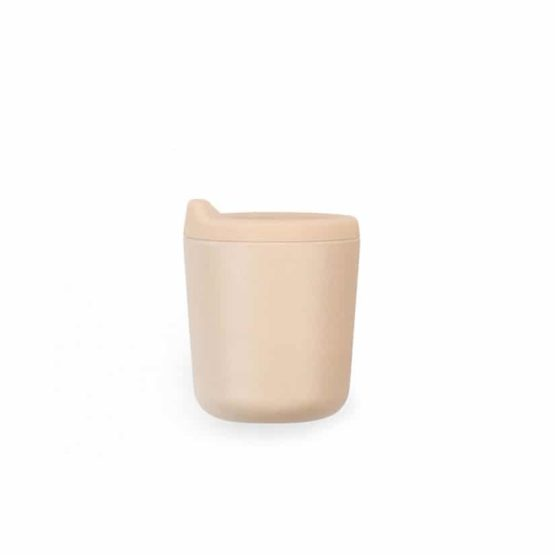 EKOBO. Bamboo βρεφικό ποτηράκι με καπάκι σιλικόνης (απαλό ροζ)