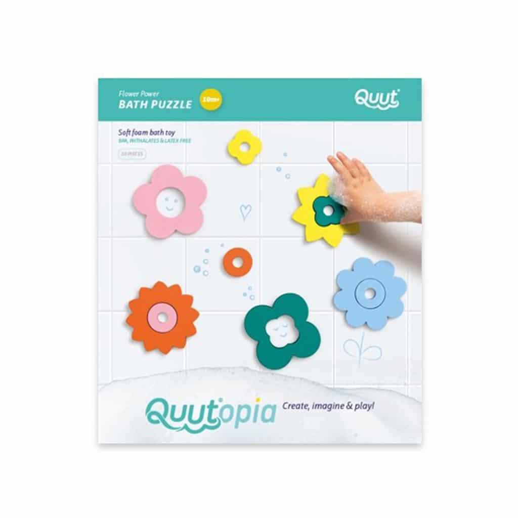 QUUT Quutopia. Παιχνίδι μπάνιου – παζλ Λουλούδια