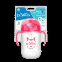 TC91011 INTL Pkg F Babys First Straw Cup 270ml Pink Kitty