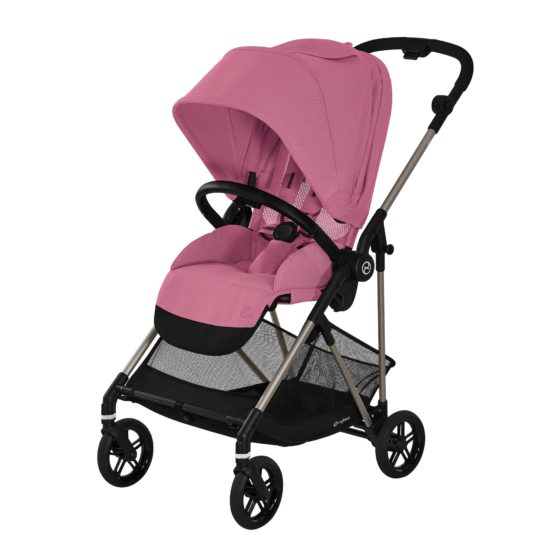 Cybex Melio TPE Καρότσι Magnolia Pink Gold Collection