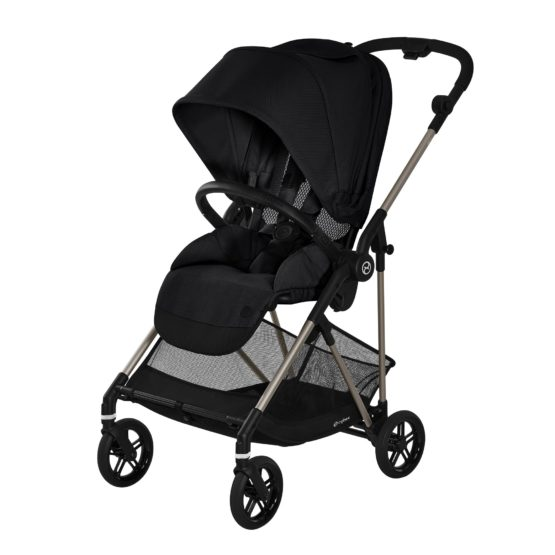 Cybex Melio TPE Καρότσι Deep Black Gold Collection