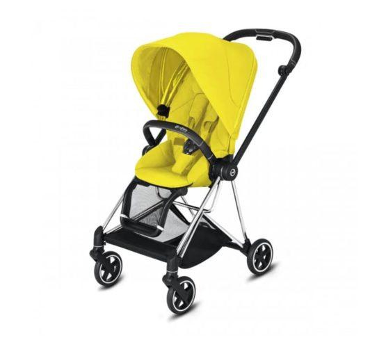 "Cybex Καρότσι Mios Frame Chrome Black – Seat Mustard Yellow ""Platinum Edition"""
