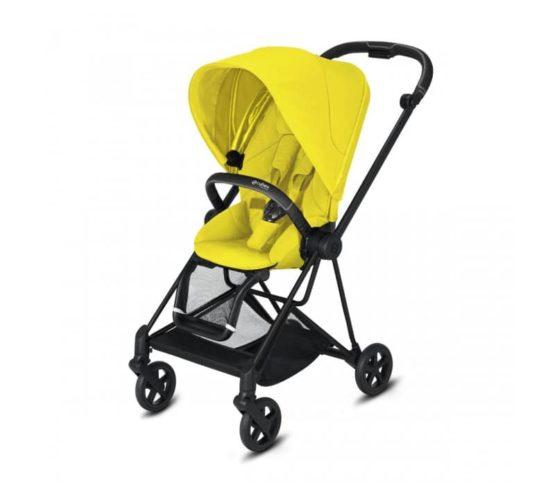 "Cybex Καρότσι Mios Frame Matt Black – Seat Mustard Yellow ""Platinum Edition"""