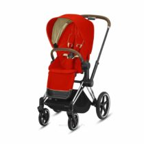 Wozek Spacerowy Cybex Priam 2.0 Autumn Gold Chrome Brown Eurowozki.PL