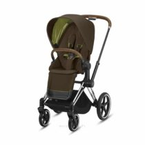 Wozek Spacerowy Cybex Priam 2.0 Khaki Green Chrome Brown Eurowozki.PL